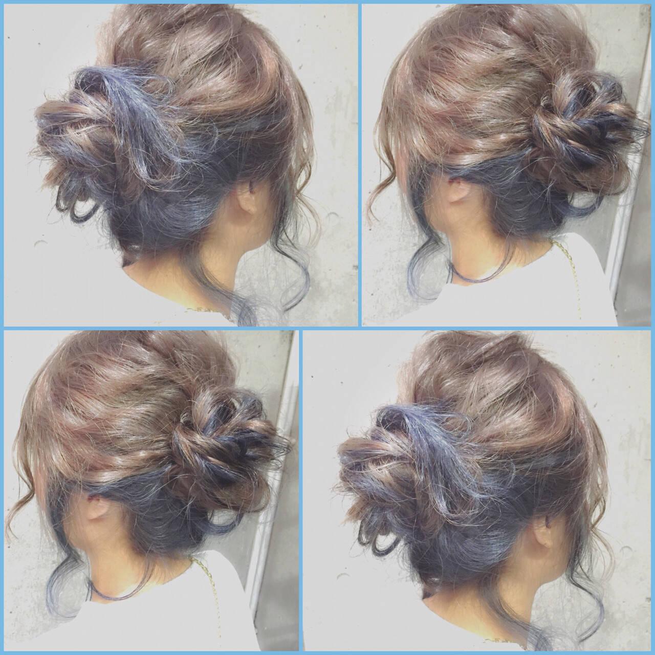 ハーフアップ セミロング ヘアアレンジ 大人かわいいヘアスタイルや髪型の写真・画像