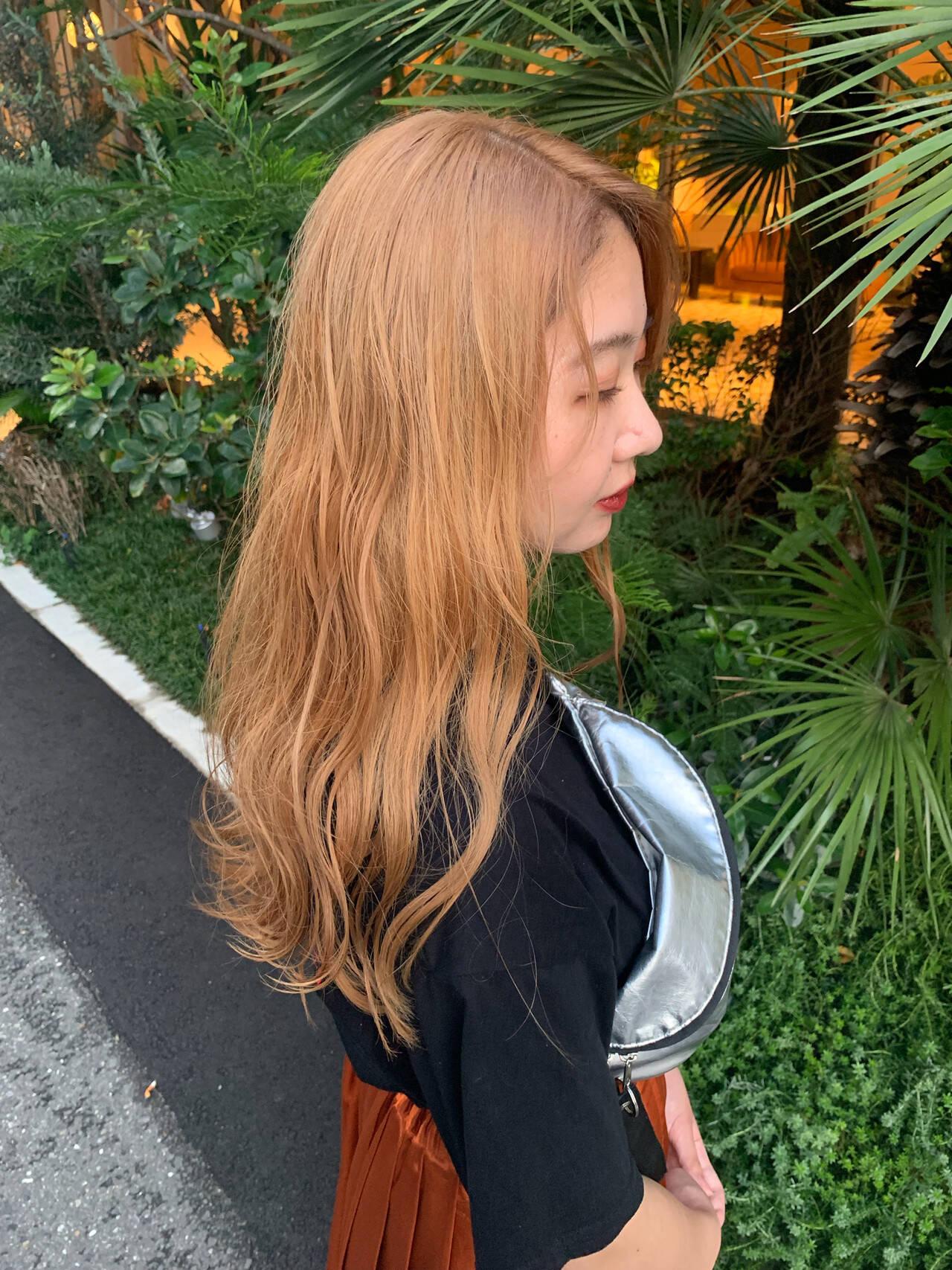 インナーカラー ロング ストリート 外国人風カラーヘアスタイルや髪型の写真・画像