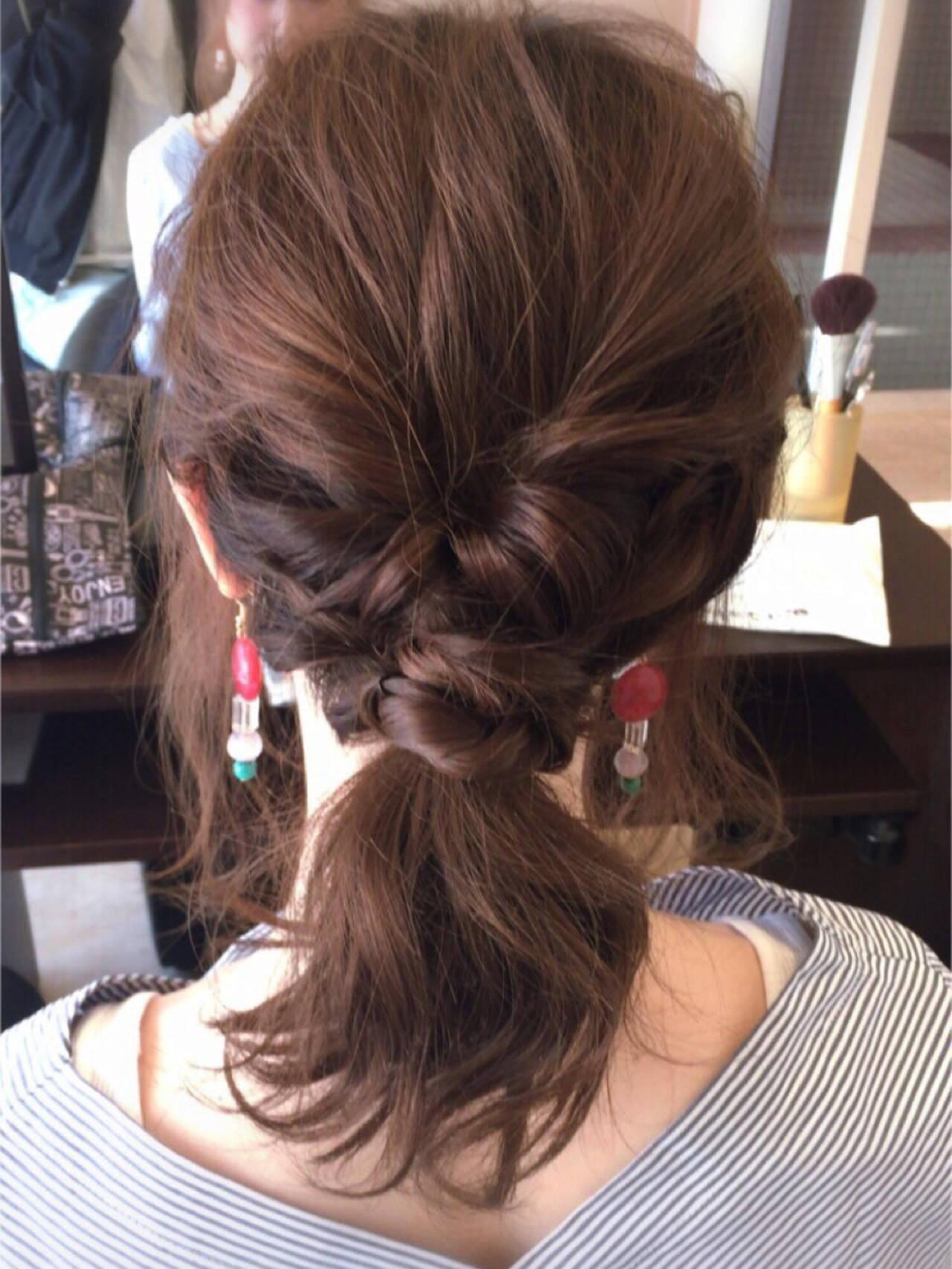 愛され モテ髪 ショート 簡単ヘアアレンジヘアスタイルや髪型の写真・画像