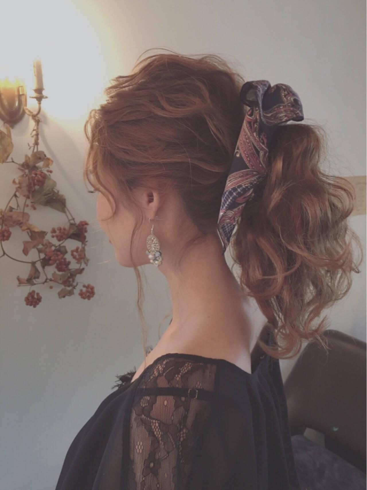 簡単ヘアアレンジ ショート セミロング 外国人風ヘアスタイルや髪型の写真・画像