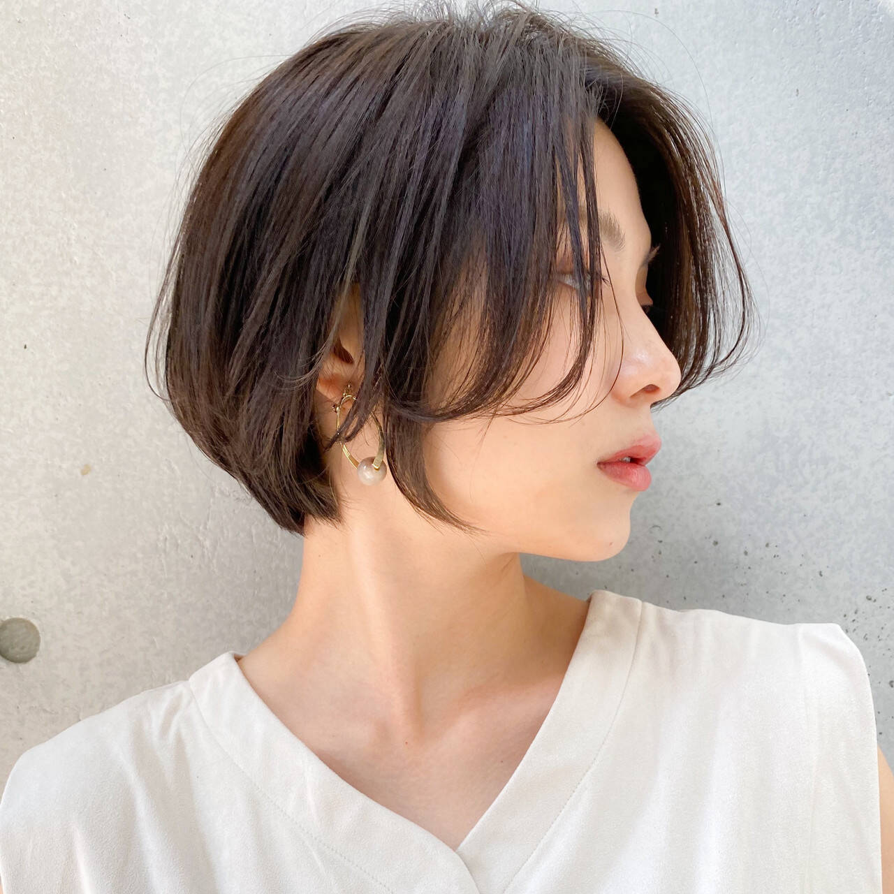 透明感カラー ハンサムショート 色気 大人かわいいヘアスタイルや髪型の写真・画像