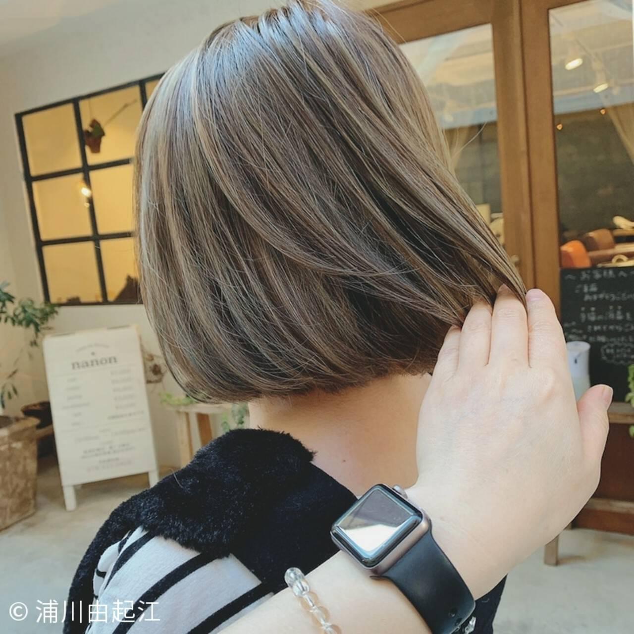 ゆるふわ 大人かわいい グラデーションカラー ナチュラルヘアスタイルや髪型の写真・画像