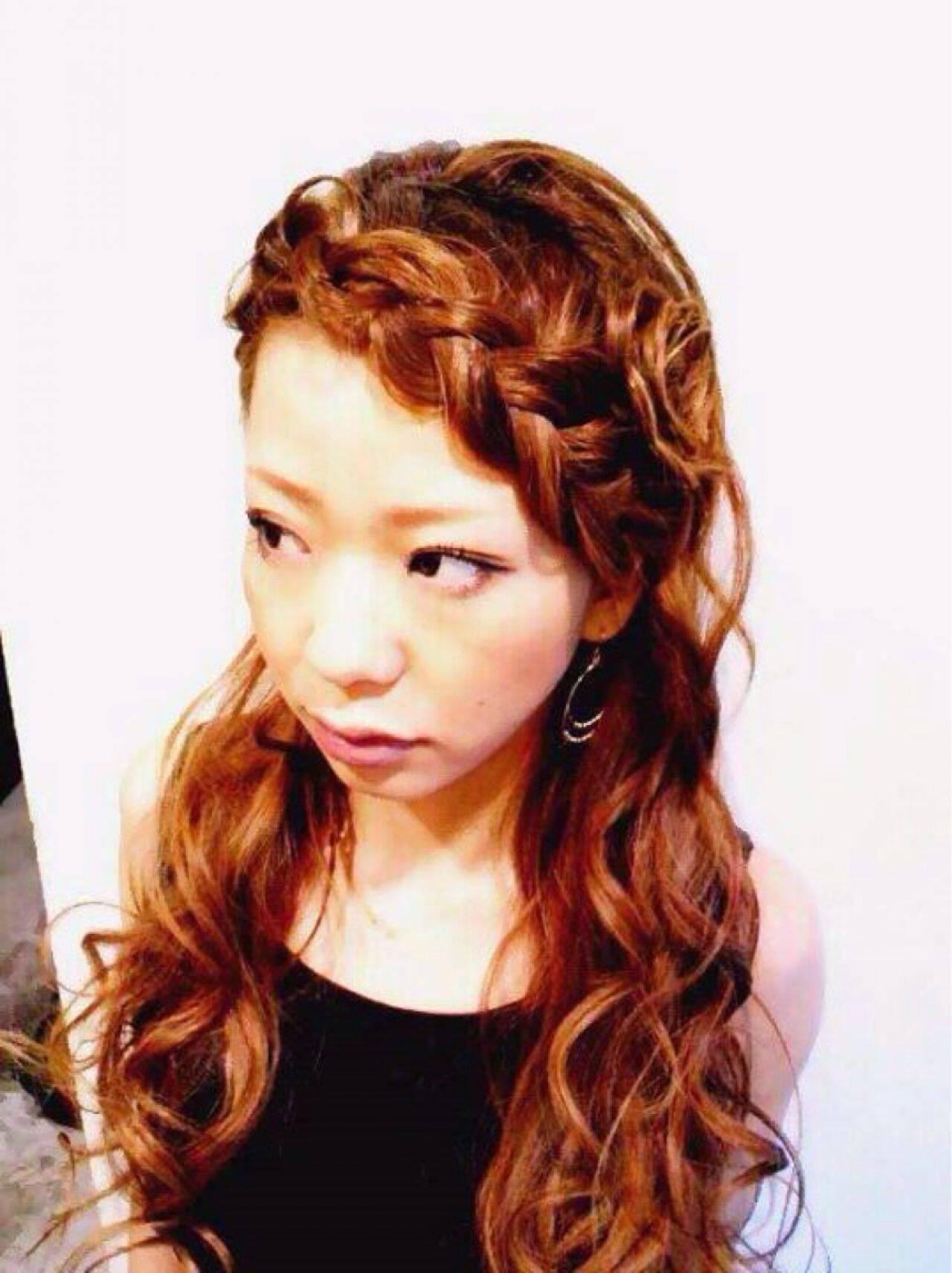 アップスタイル ヘアアレンジ コンサバ 編み込みヘアスタイルや髪型の写真・画像