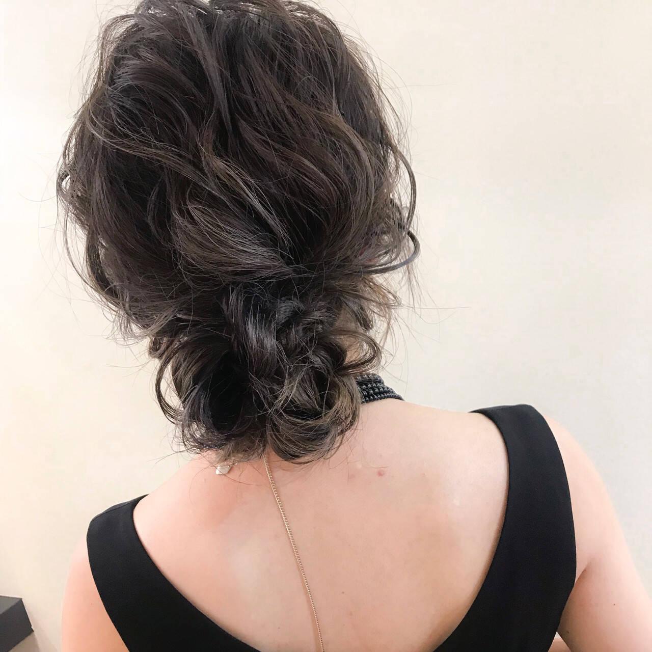 デート 結婚式 ナチュラル セミロングヘアスタイルや髪型の写真・画像