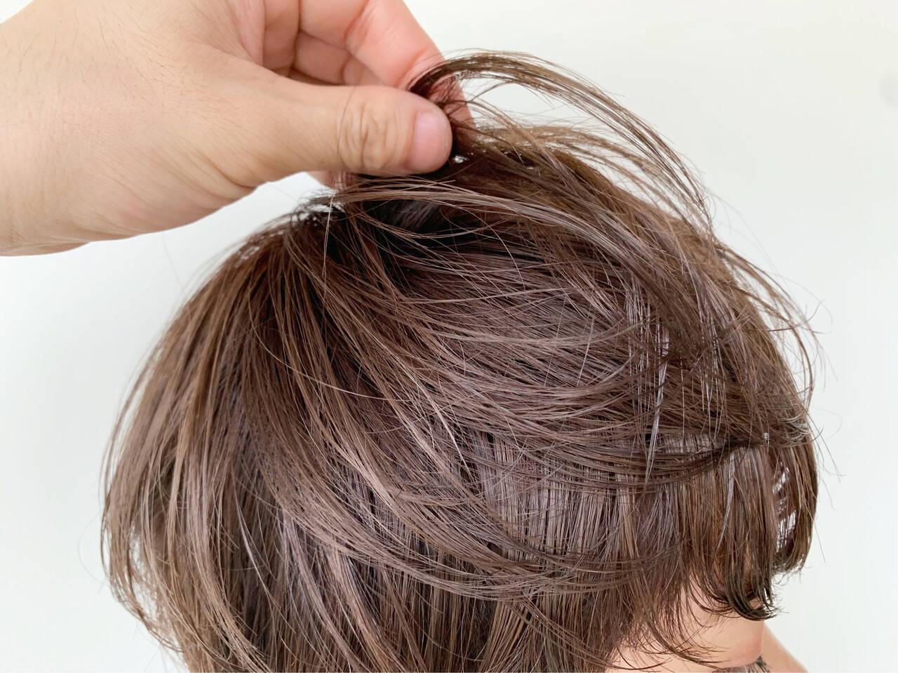 透明感カラー マッシュショート 外国人風カラー ショートボブヘアスタイルや髪型の写真・画像