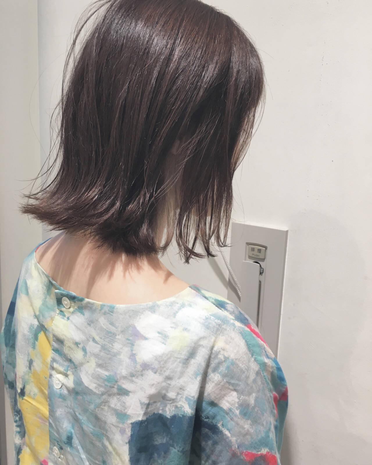 秋 ナチュラル ボブ 透明感ヘアスタイルや髪型の写真・画像