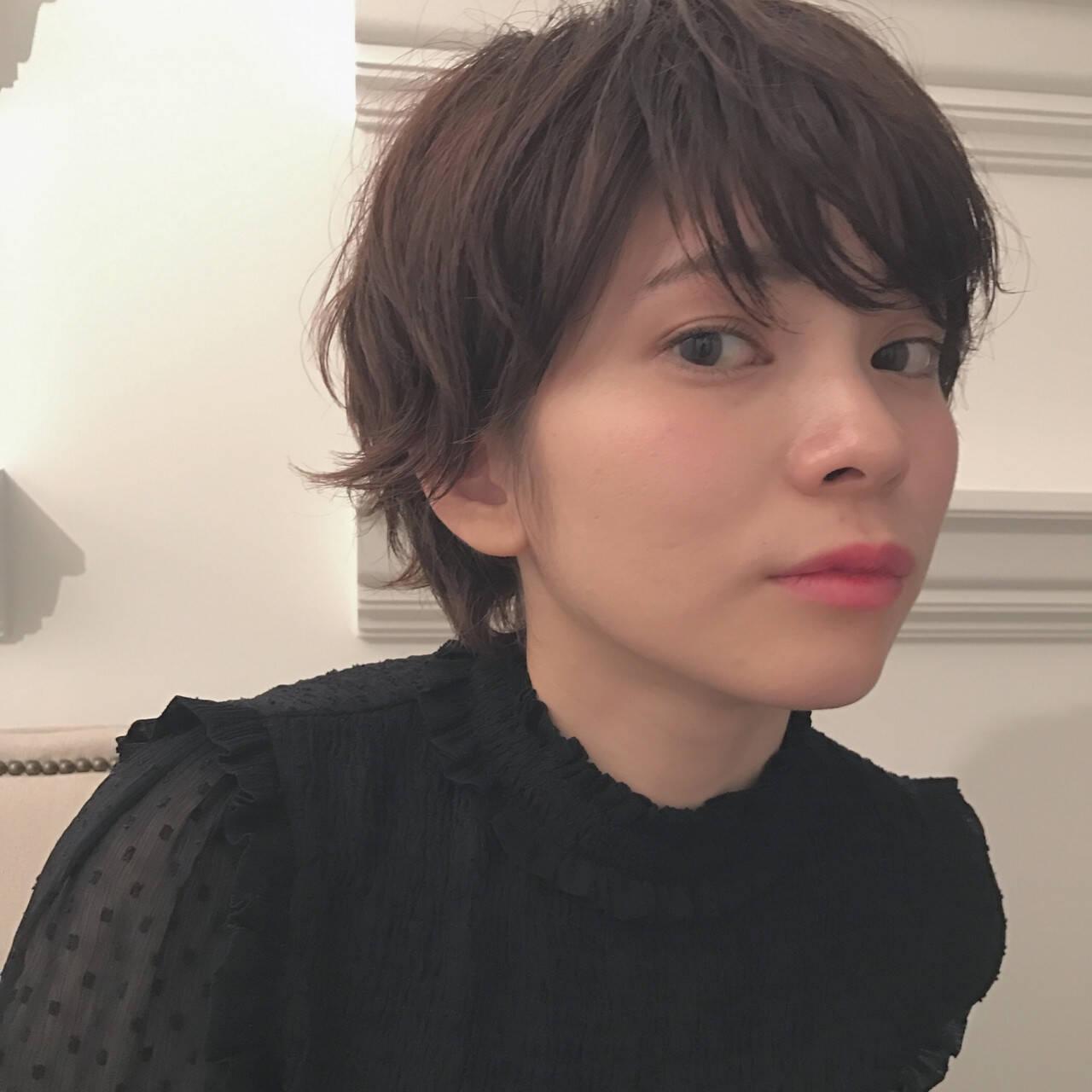 ニュアンス 大人女子 黒髪 ショートヘアスタイルや髪型の写真・画像