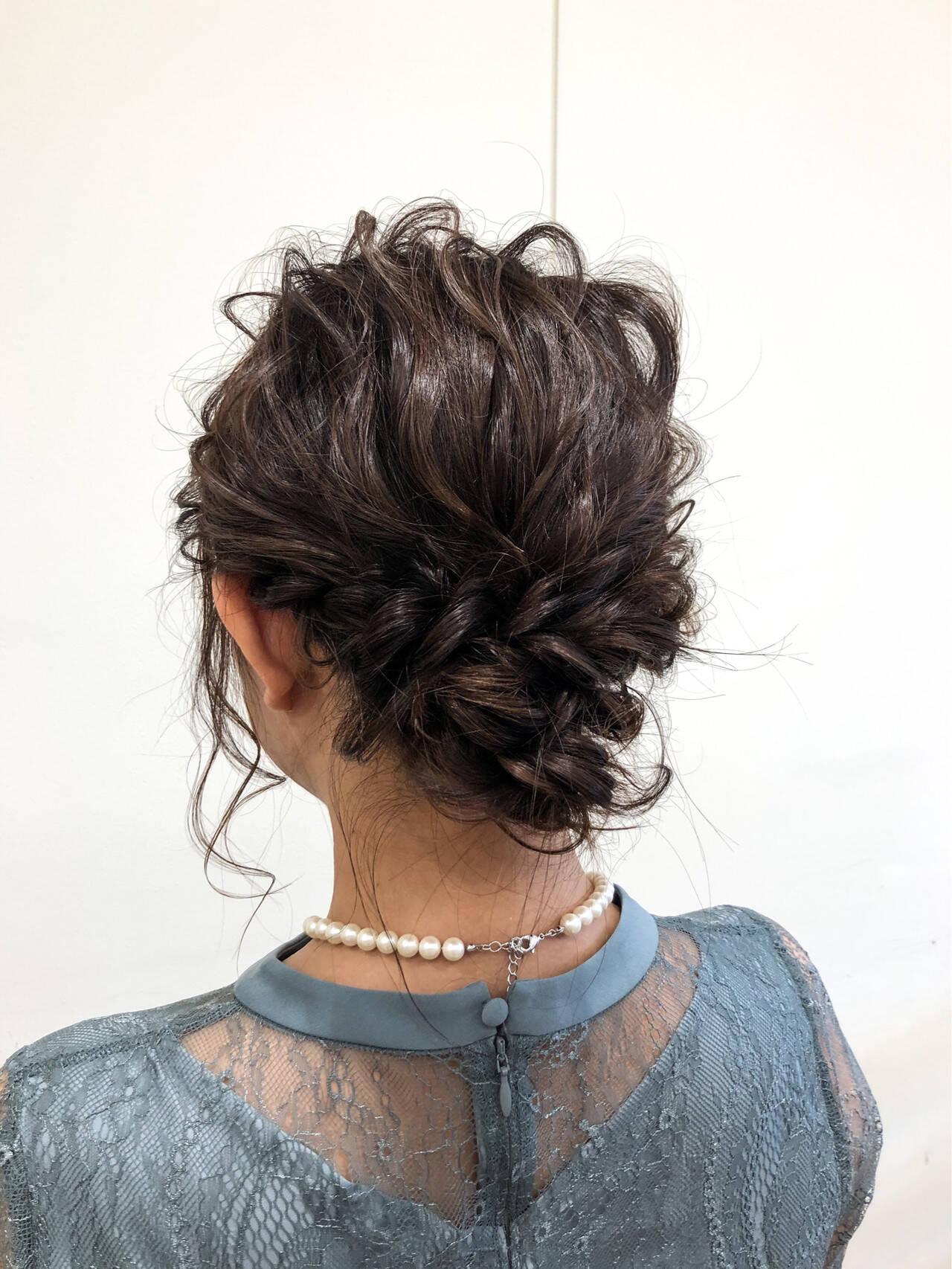 ヘアアレンジ 結婚式 成人式 シニヨンヘアスタイルや髪型の写真・画像