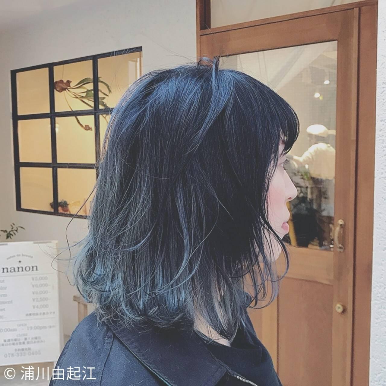大人かわいい グラデーションカラー フェミニン インナーカラーヘアスタイルや髪型の写真・画像