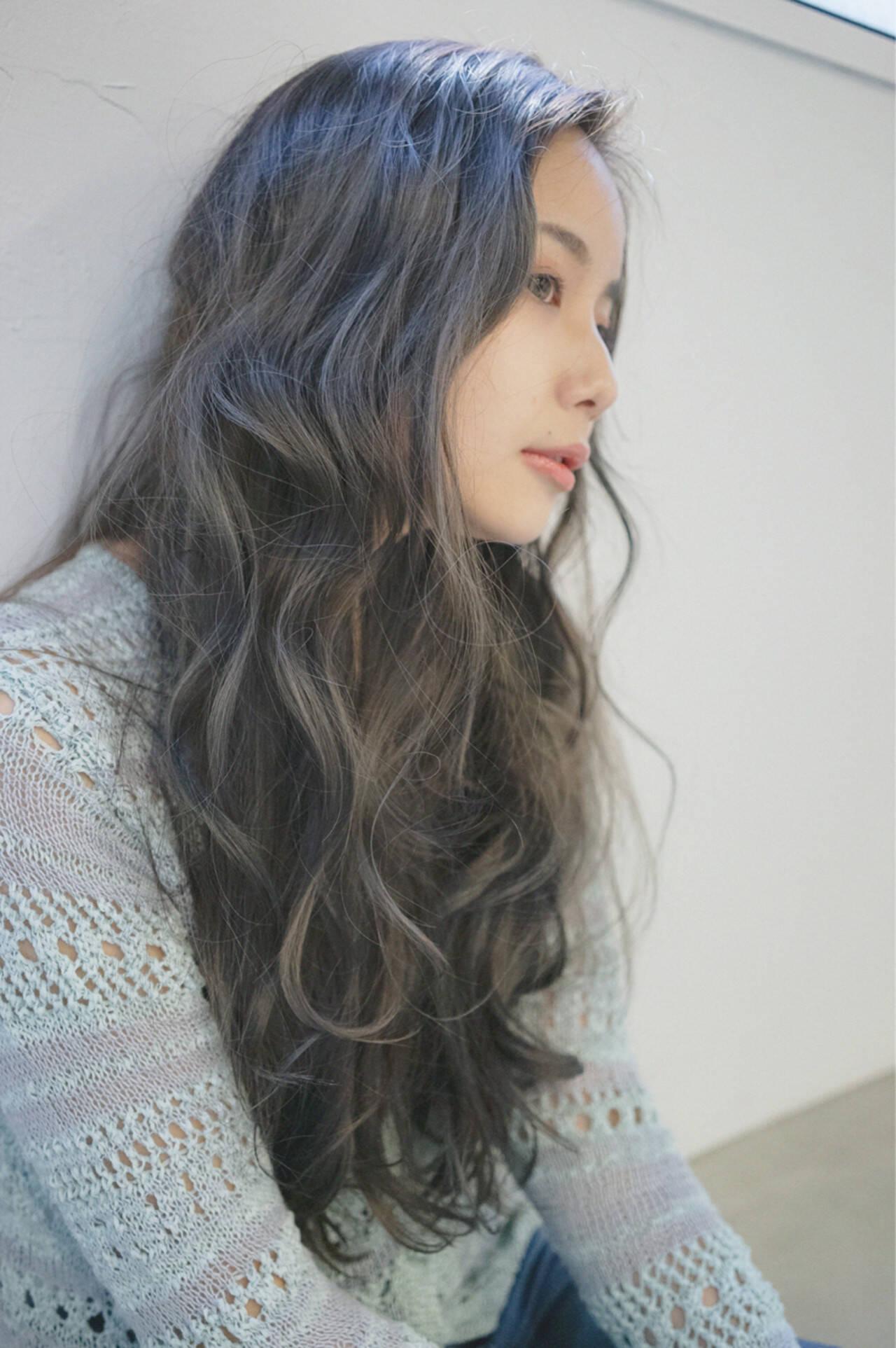 ブラウン 外国人風カラー ロング ブラウンベージュヘアスタイルや髪型の写真・画像