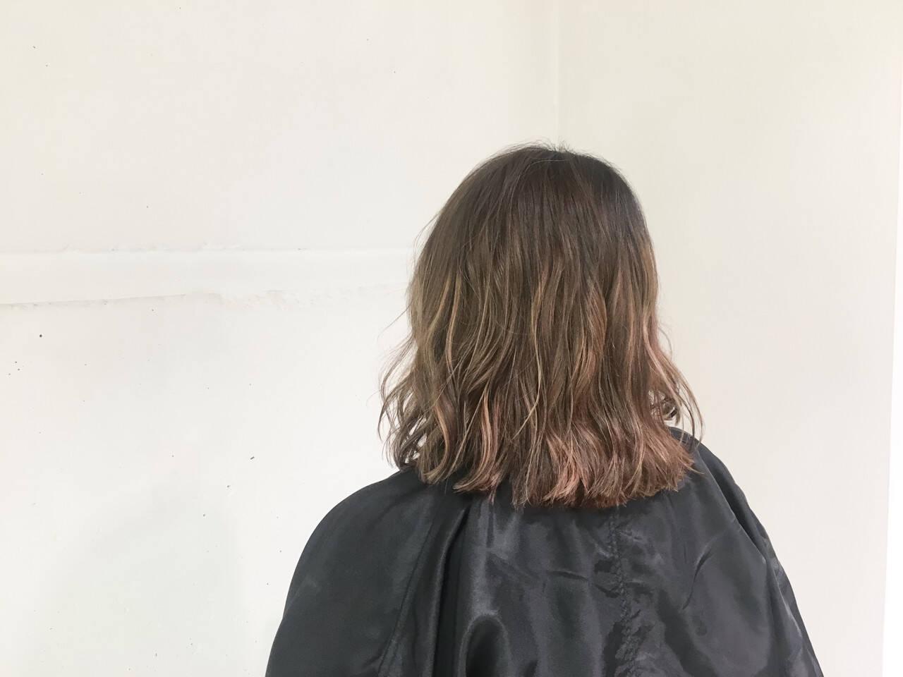 外国人風 グラデーションカラー ボブ ストリートヘアスタイルや髪型の写真・画像