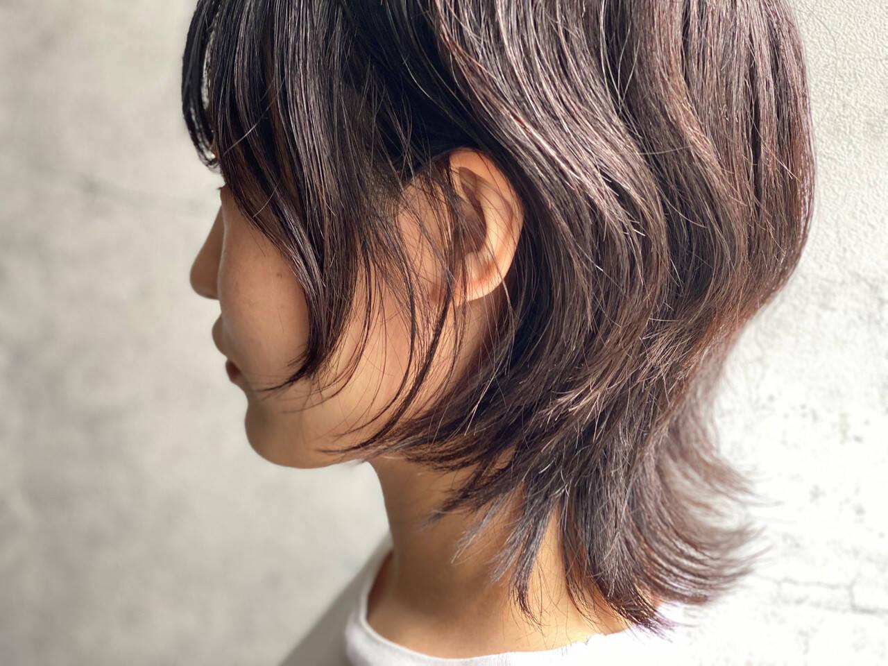 ウルフカット ショート ショートヘア ナチュラルヘアスタイルや髪型の写真・画像