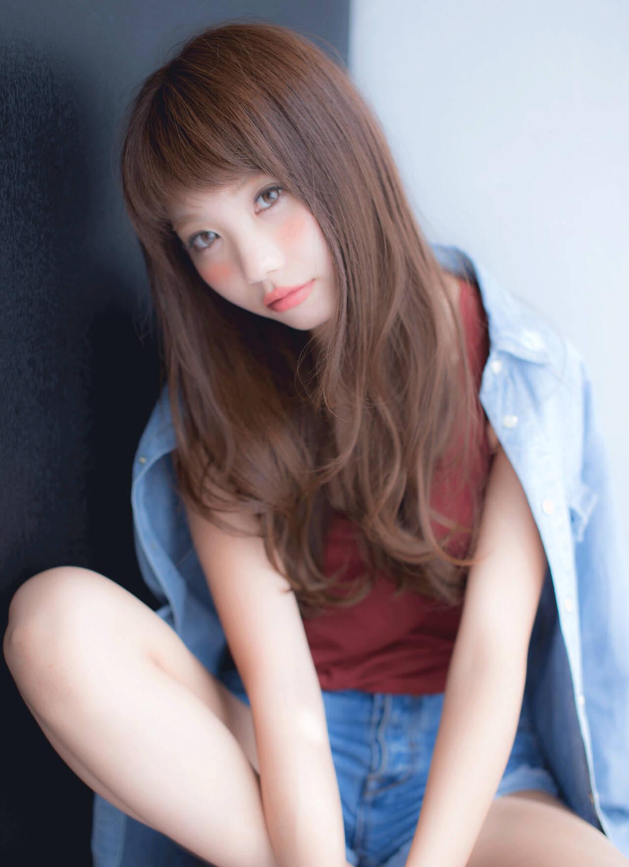 前髪あり 大人かわいい 外国人風 ストリートヘアスタイルや髪型の写真・画像