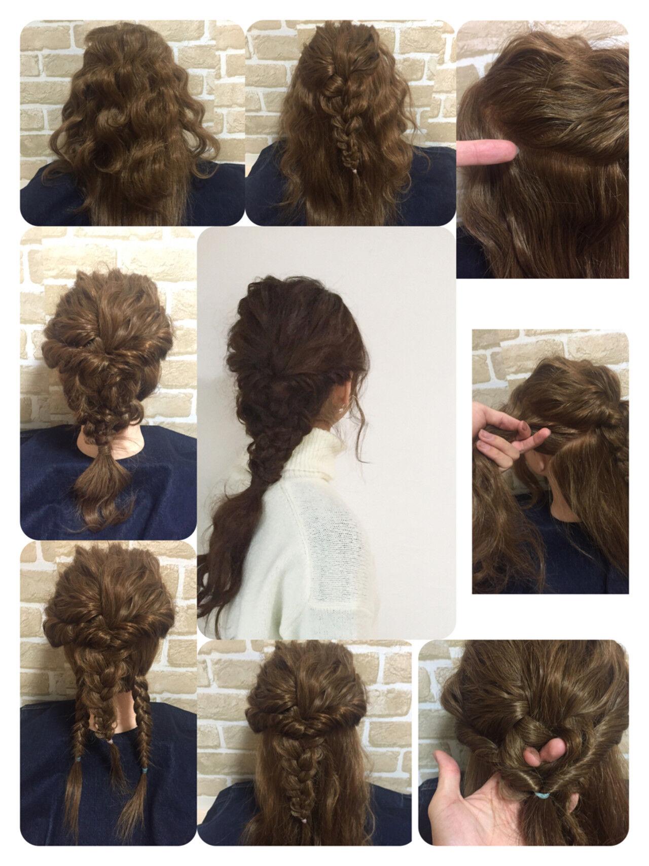 ゆるふわ ロング パーティ ヘアアレンジヘアスタイルや髪型の写真・画像