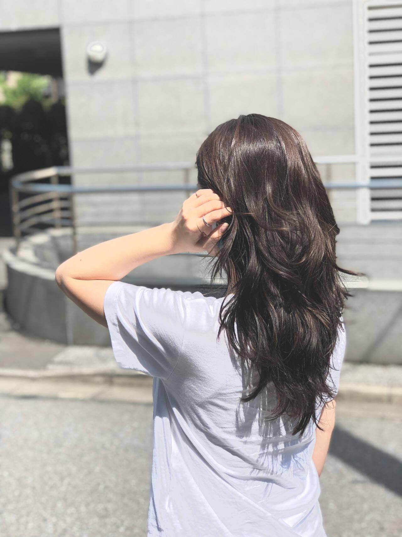 エレガント 黒髪 デート パーマヘアスタイルや髪型の写真・画像