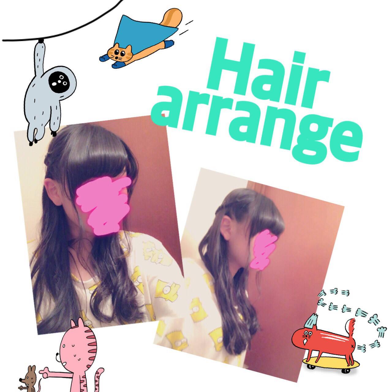 ゆるふわ ハーフアップ ショート ヘアアレンジヘアスタイルや髪型の写真・画像