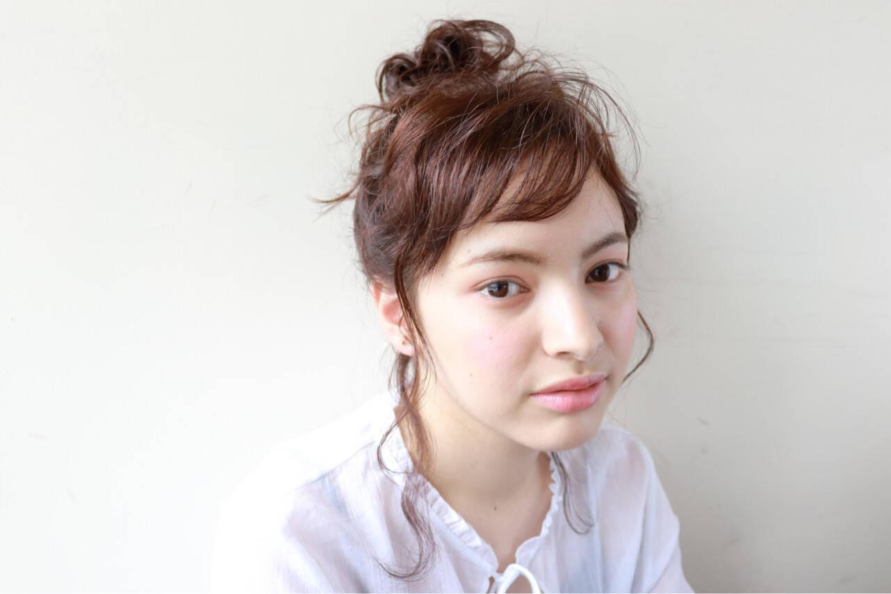 ナチュラル 簡単ヘアアレンジ 外国人風 セミロングヘアスタイルや髪型の写真・画像