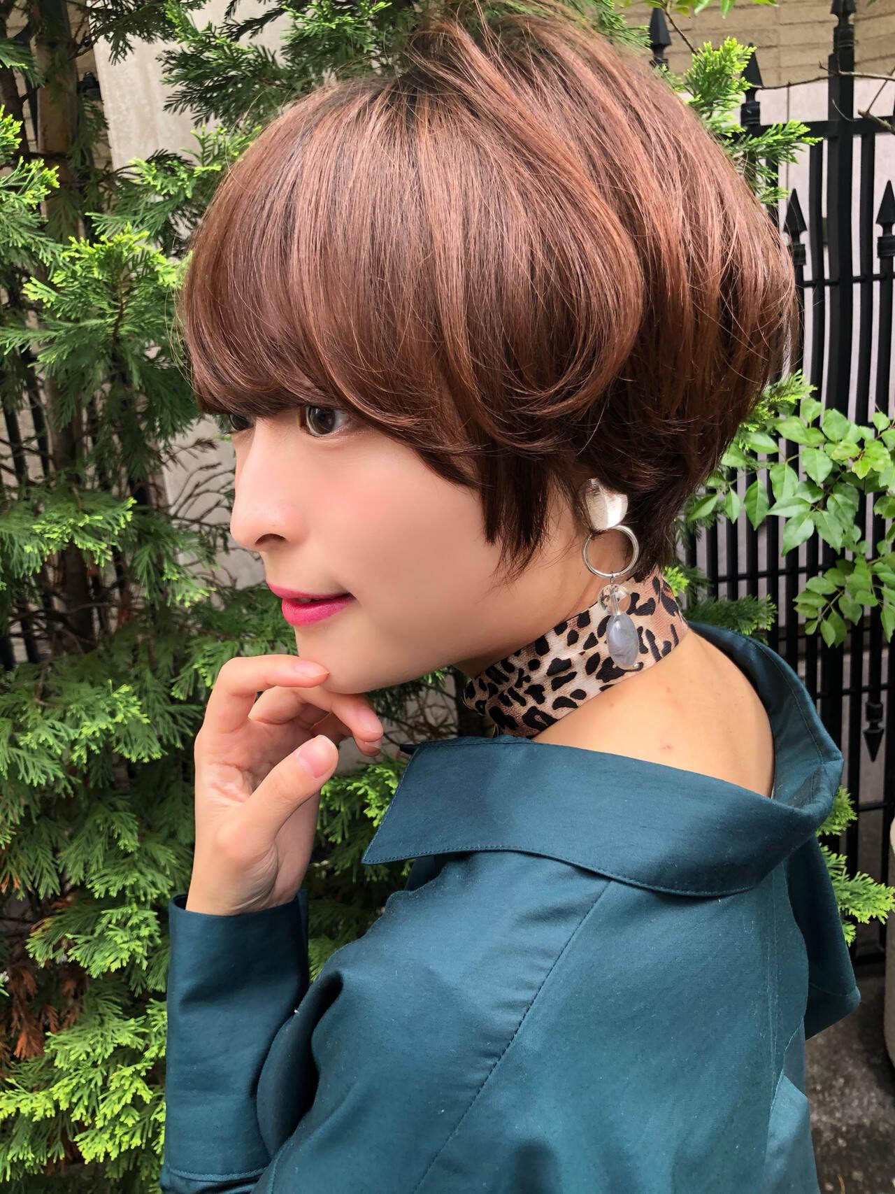 ミニボブ ナチュラル ショートヘア ショートヘアスタイルや髪型の写真・画像