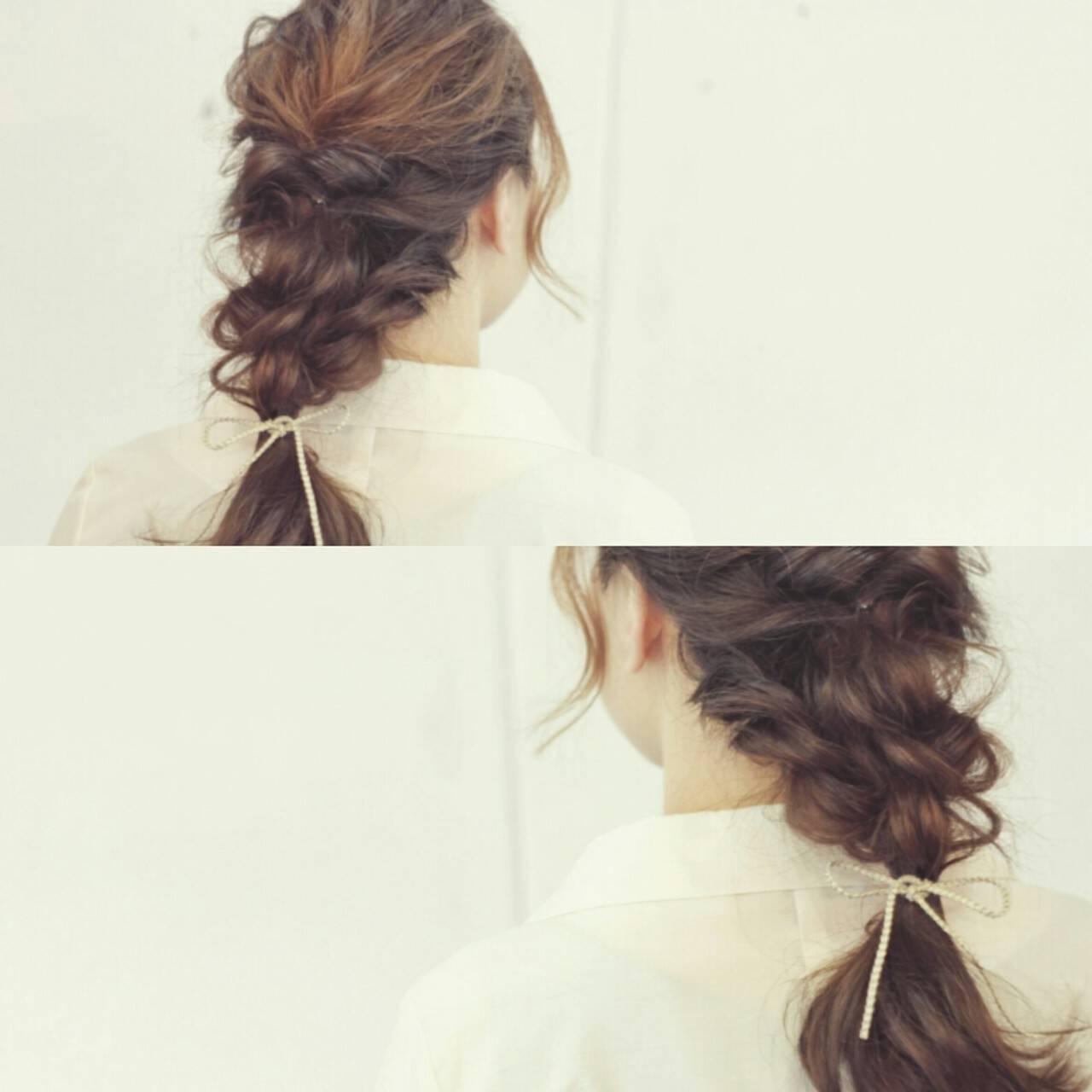 ミディアム 編み込み 大人かわいい ヘアアレンジヘアスタイルや髪型の写真・画像