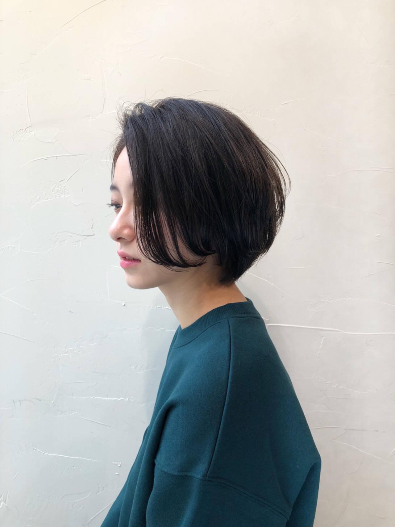 デート ナチュラル 簡単ヘアアレンジ ボブヘアスタイルや髪型の写真・画像