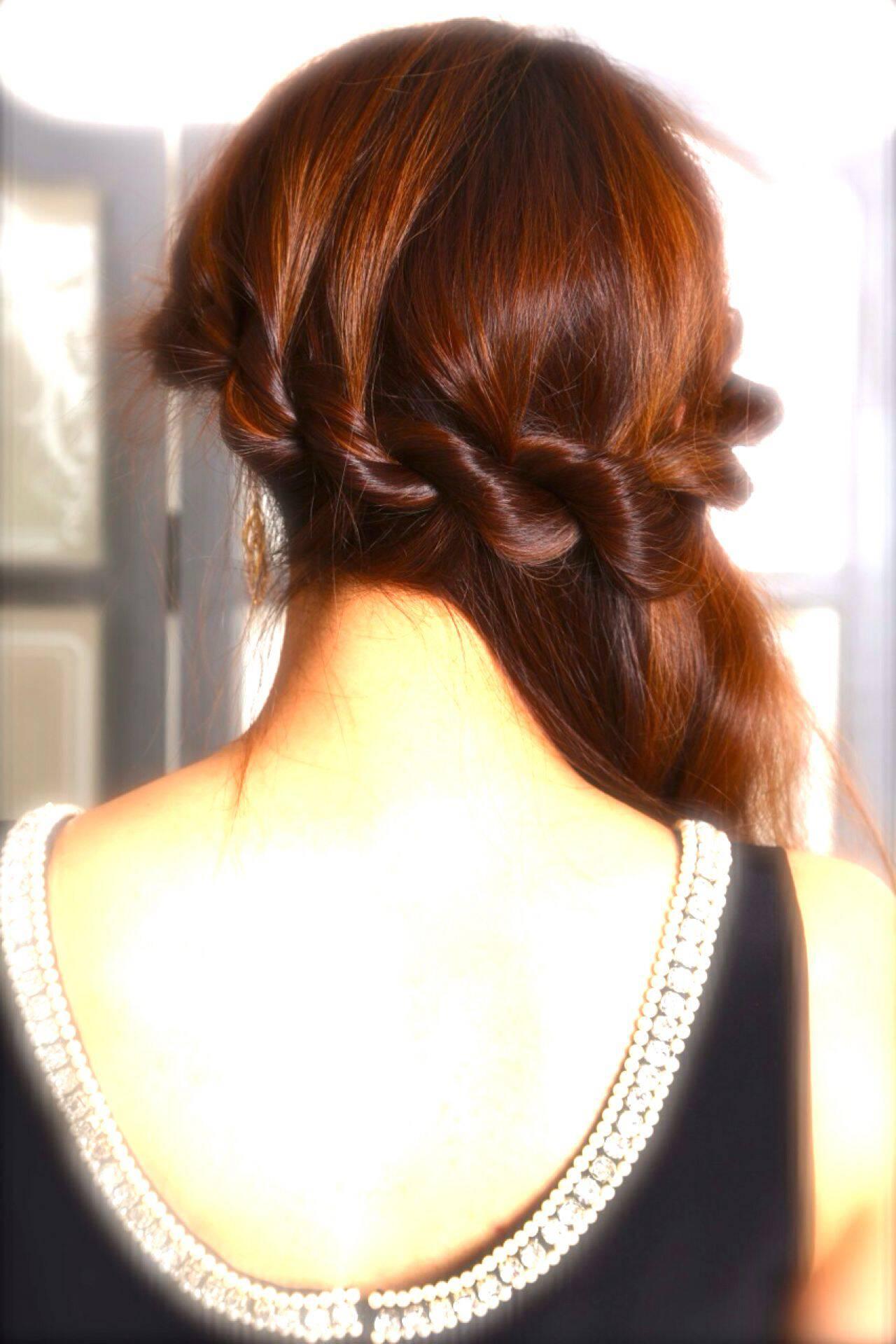 ゆるふわ ヘアアレンジ ロング アップスタイルヘアスタイルや髪型の写真・画像