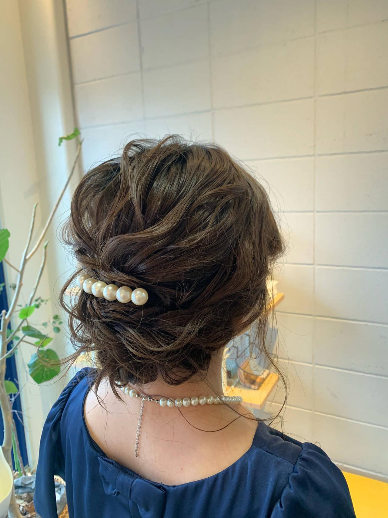 エレガント 結婚式 大人かわいい ミディアムヘアスタイルや髪型の写真・画像