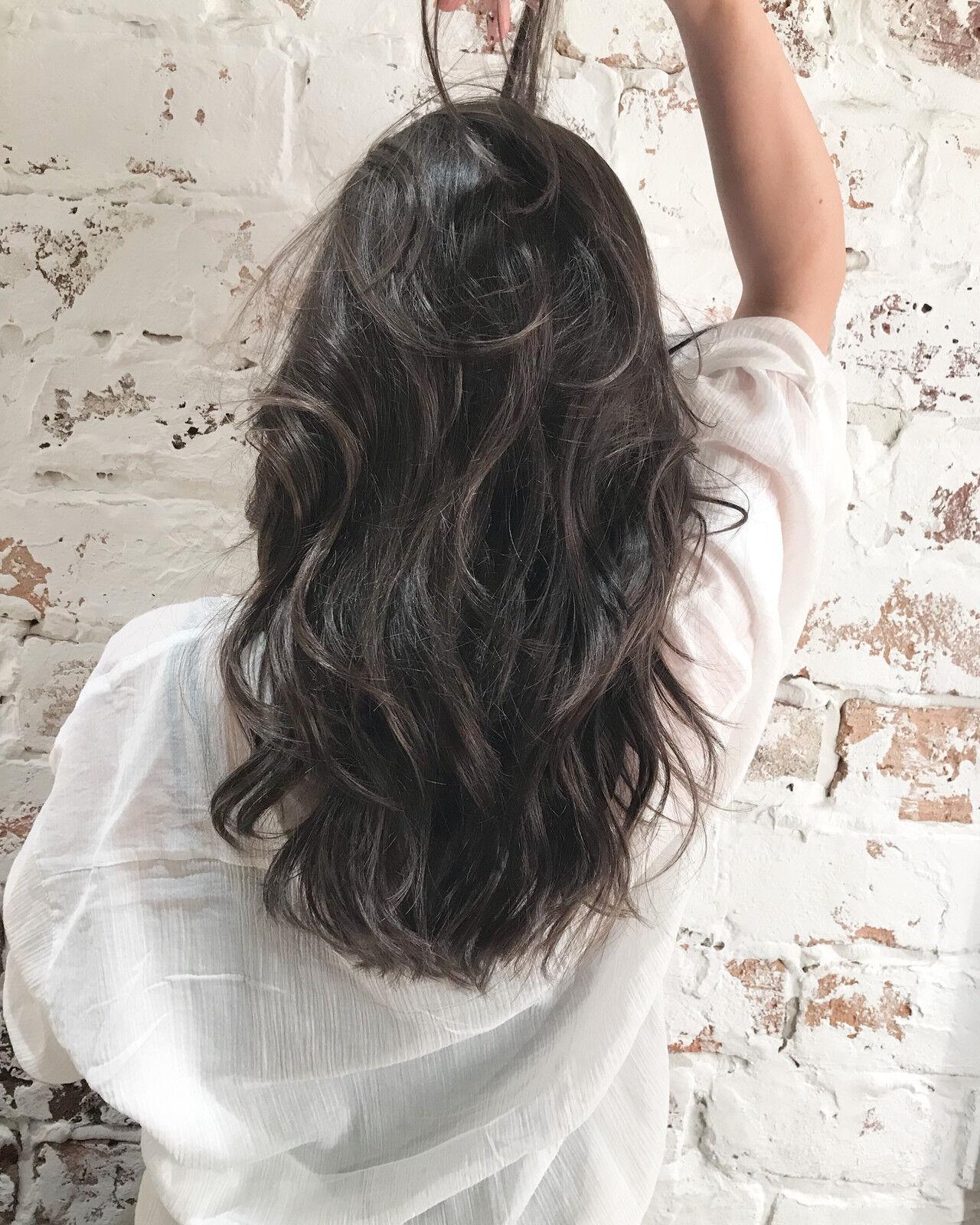 ロング ハイライト ヘルシースタイル 360度どこからみても綺麗なロングヘアヘアスタイルや髪型の写真・画像