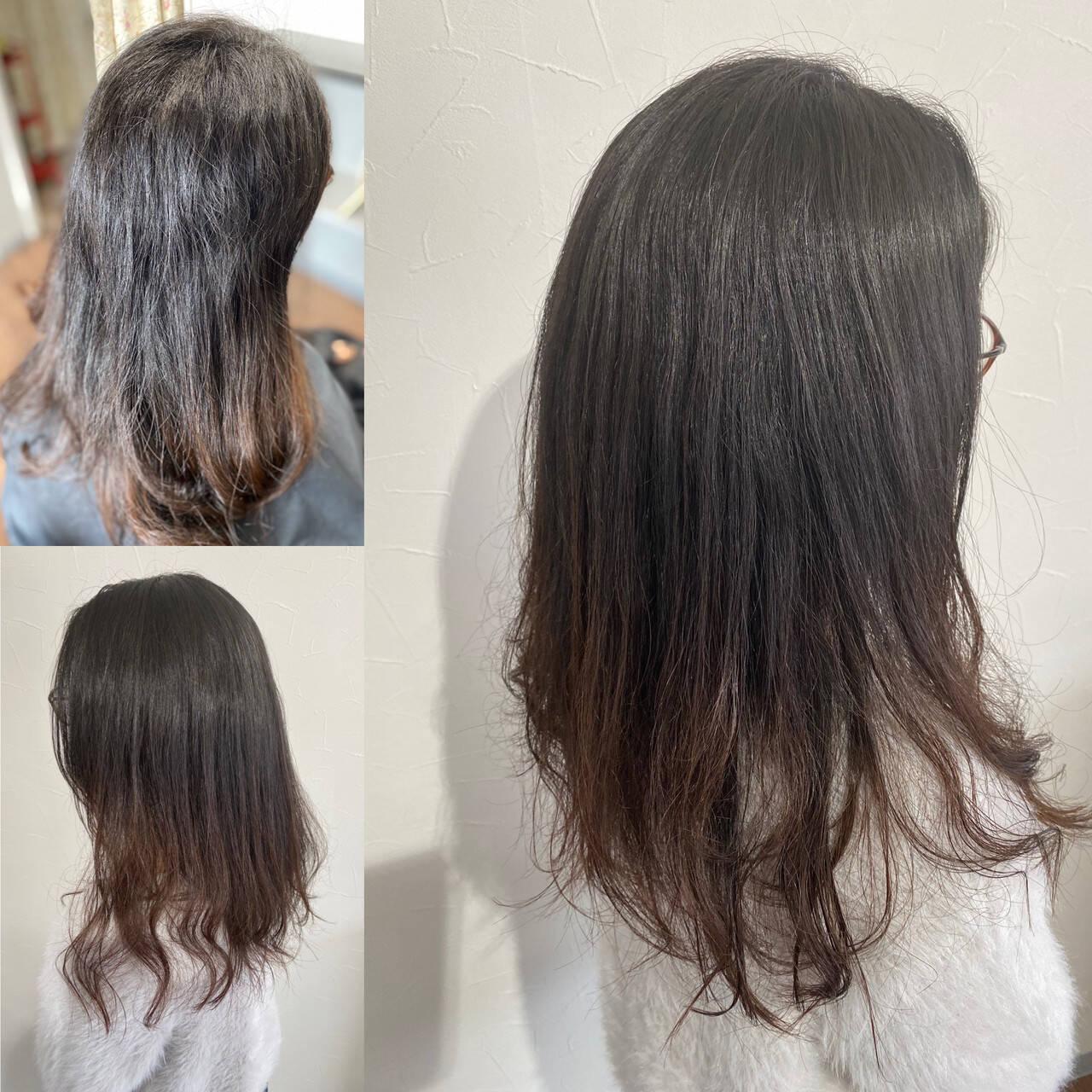 360度どこからみても綺麗なロングヘア ロングヘア エレガント クールロングヘアスタイルや髪型の写真・画像