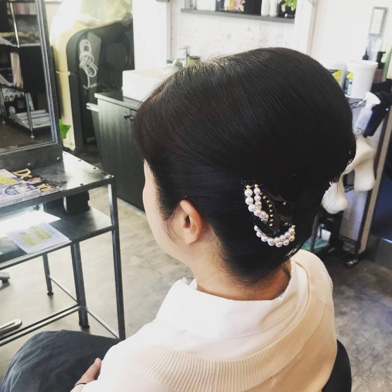 結婚式 上品 和装 ヘアアレンジヘアスタイルや髪型の写真・画像