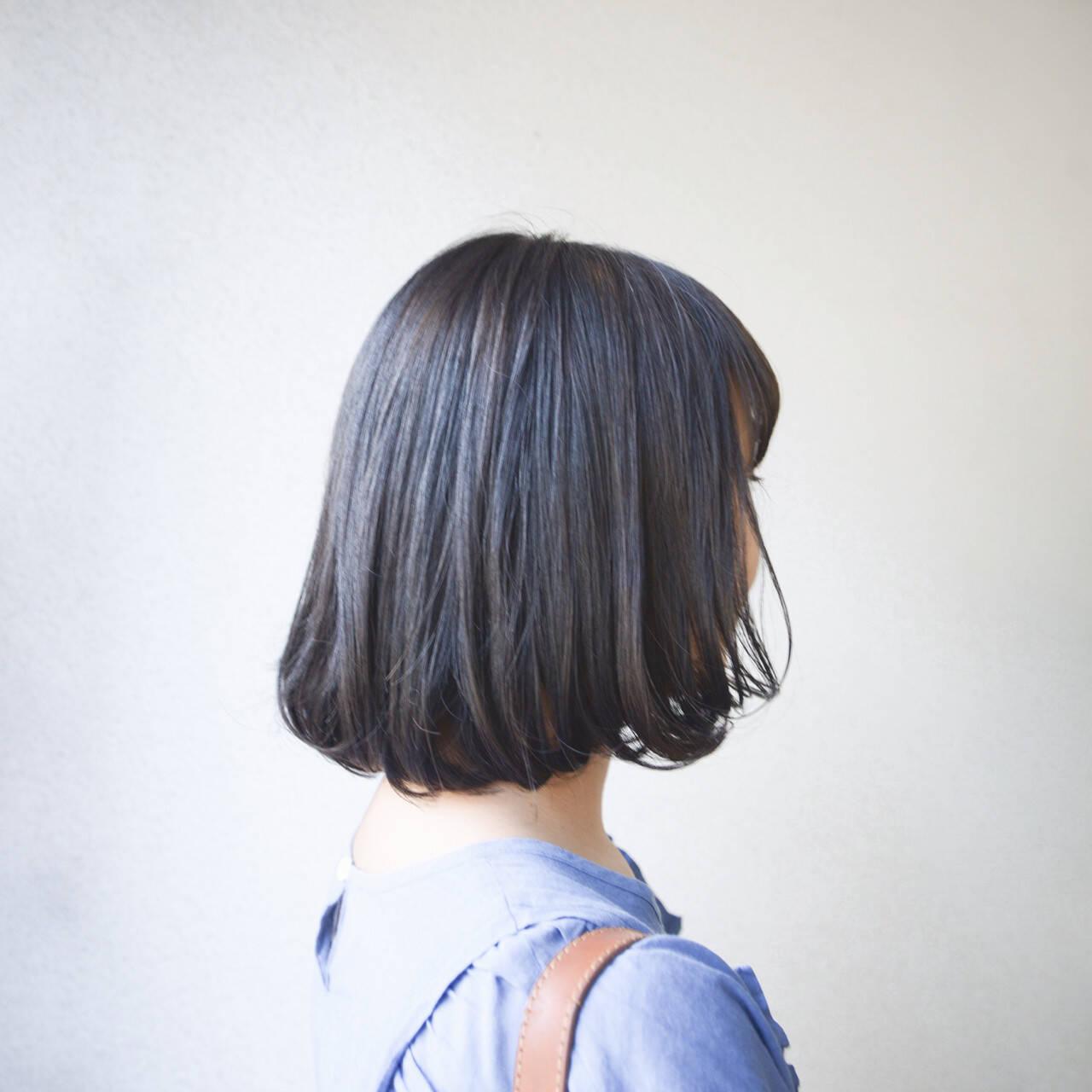 外国人風 大人かわいい ボブ ナチュラルヘアスタイルや髪型の写真・画像
