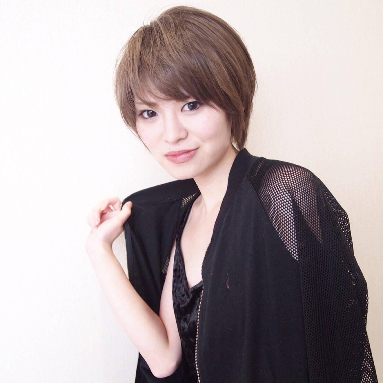モード 大人女子 アッシュ かっこいいヘアスタイルや髪型の写真・画像