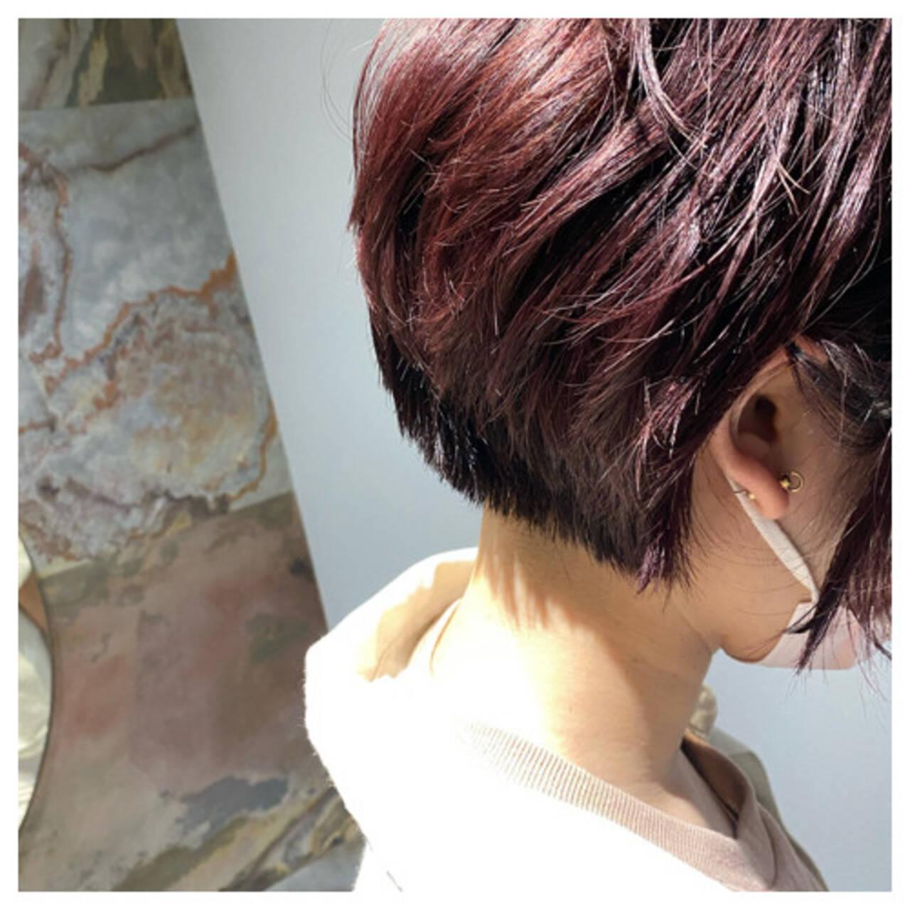 ナチュラル ショート ショートボブ ミニボブヘアスタイルや髪型の写真・画像
