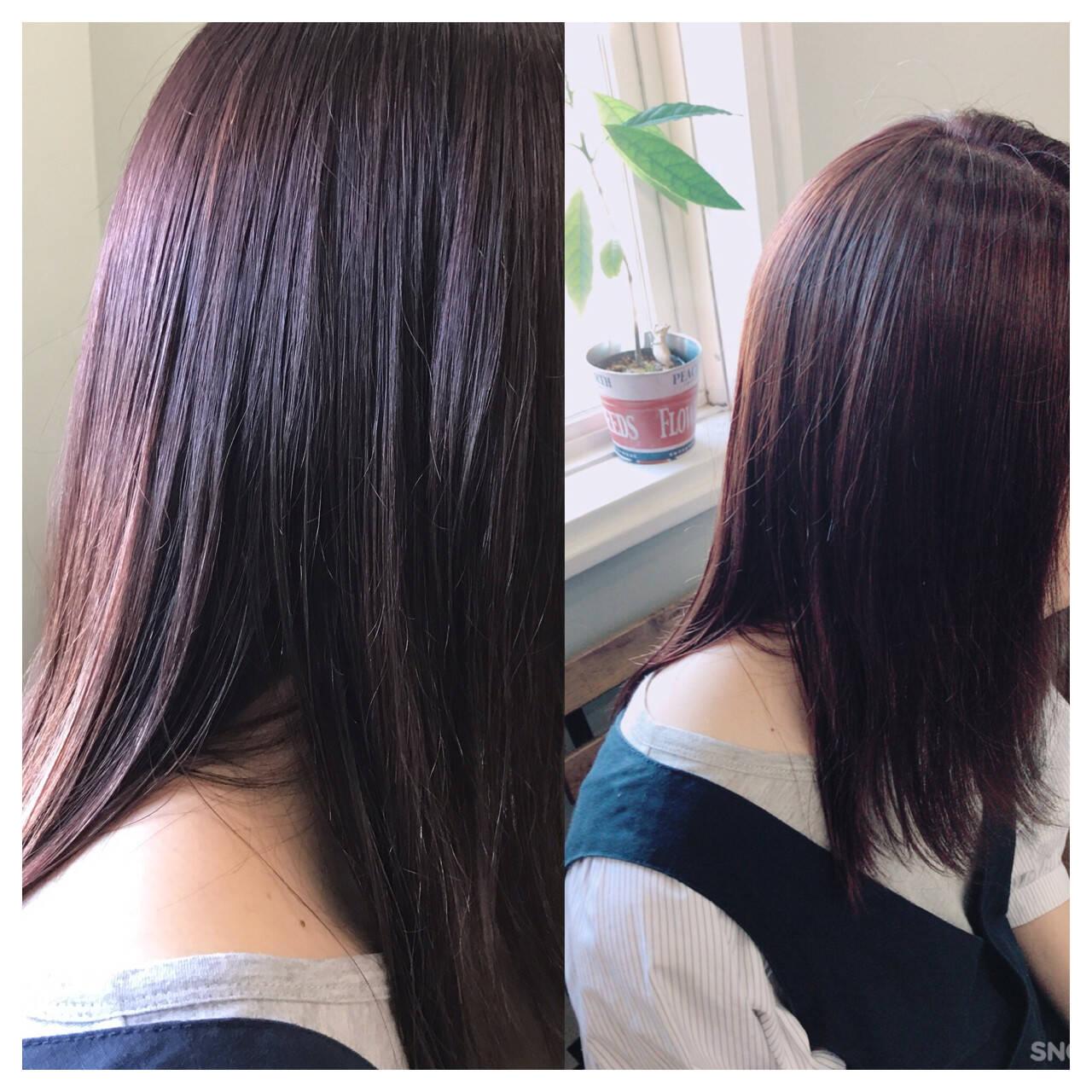 セミロング エレガント 上品 イルミナカラーヘアスタイルや髪型の写真・画像