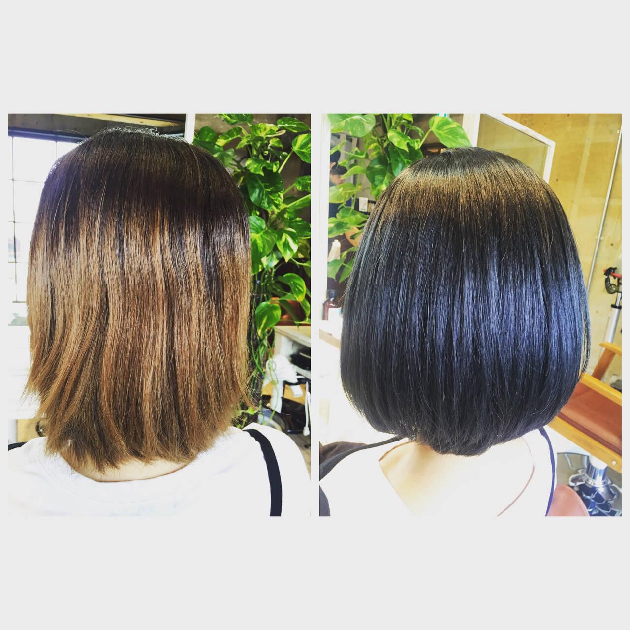 ブルー グレー ネイビー モードヘアスタイルや髪型の写真・画像