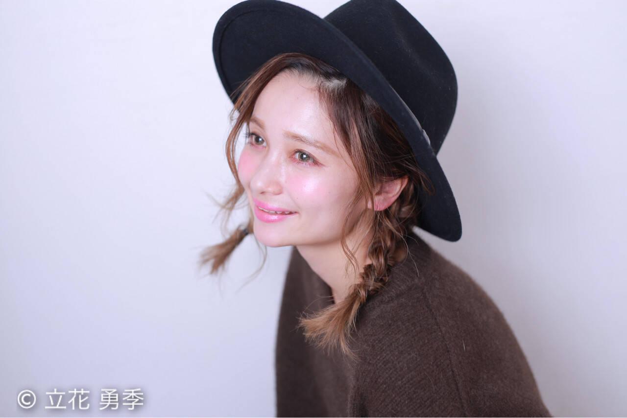 簡単ヘアアレンジ ショート ゆるふわ ヘアアレンジヘアスタイルや髪型の写真・画像