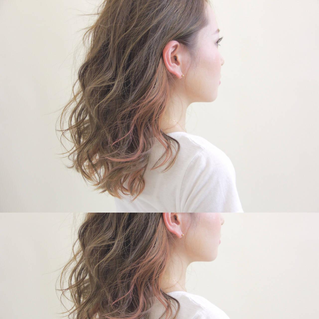 秋 ストリート アッシュ ミディアムヘアスタイルや髪型の写真・画像