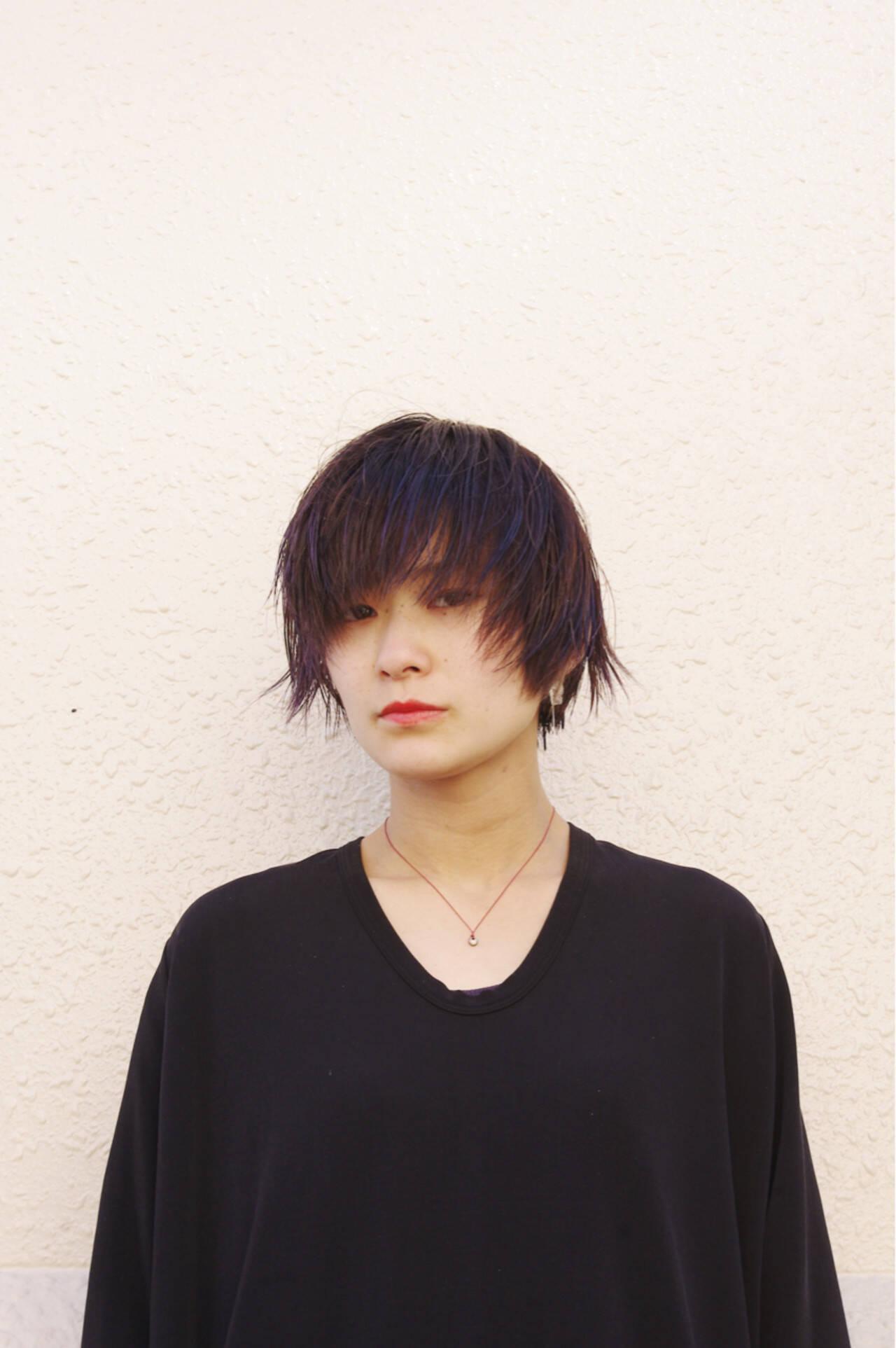 小顔 艶髪 外ハネ ナチュラルヘアスタイルや髪型の写真・画像