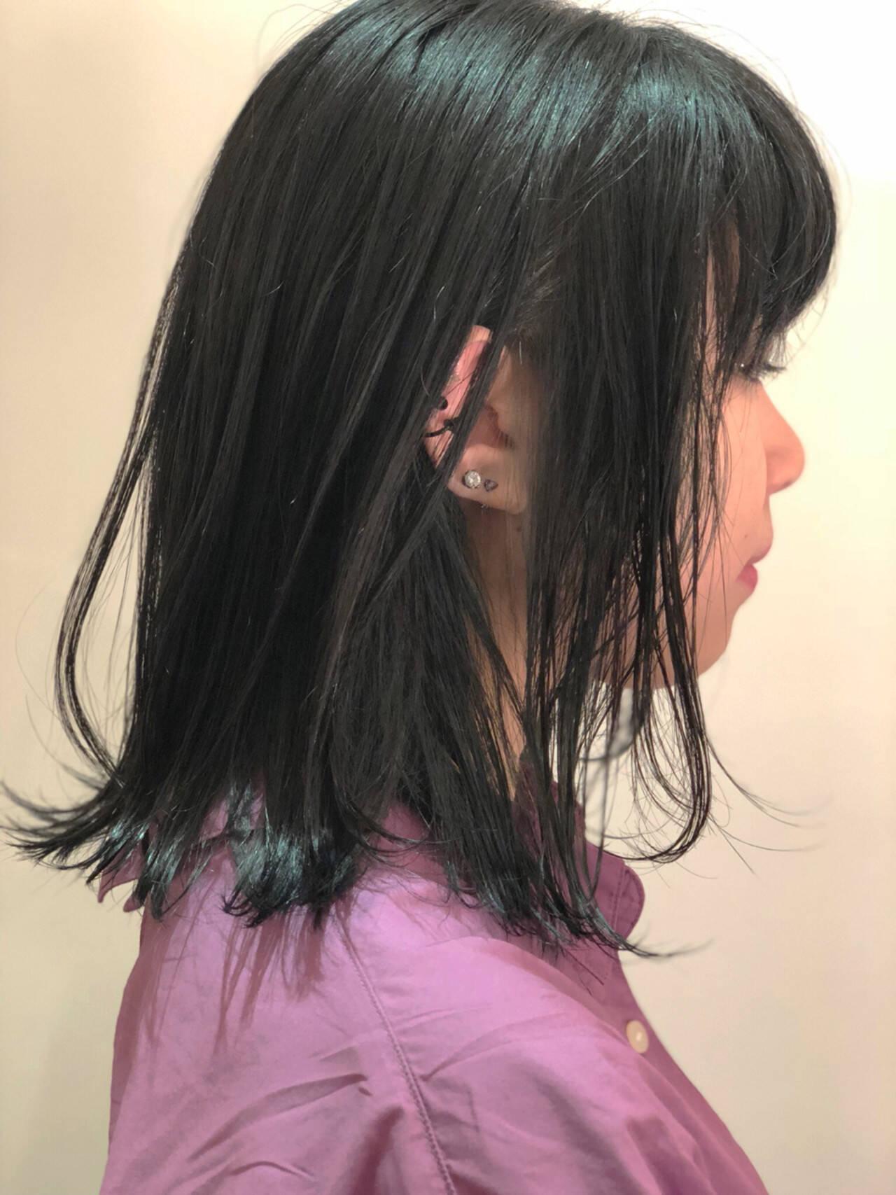 透明感 ボブ スポーツ ウェットヘアヘアスタイルや髪型の写真・画像