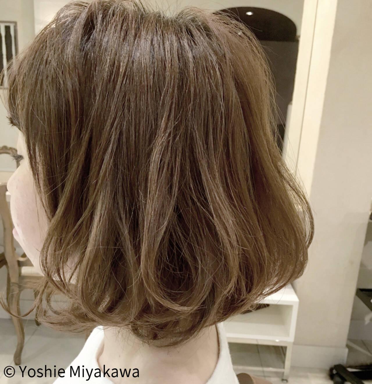 フリンジバング ナチュラル ボブ リラックスヘアスタイルや髪型の写真・画像