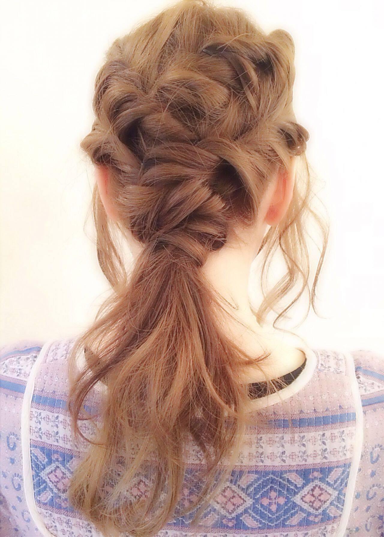 ヘアアレンジ ナチュラル ショート 簡単ヘアアレンジヘアスタイルや髪型の写真・画像