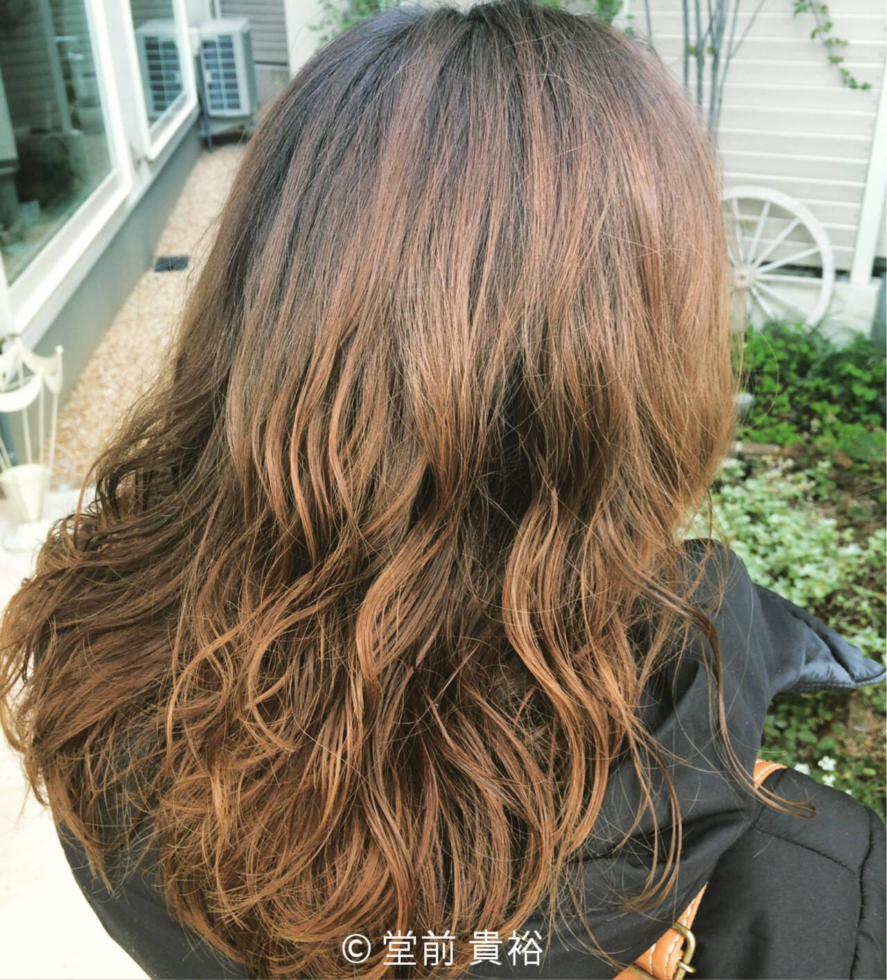 ストリート グラデーションカラー 大人かわいい ロングヘアスタイルや髪型の写真・画像