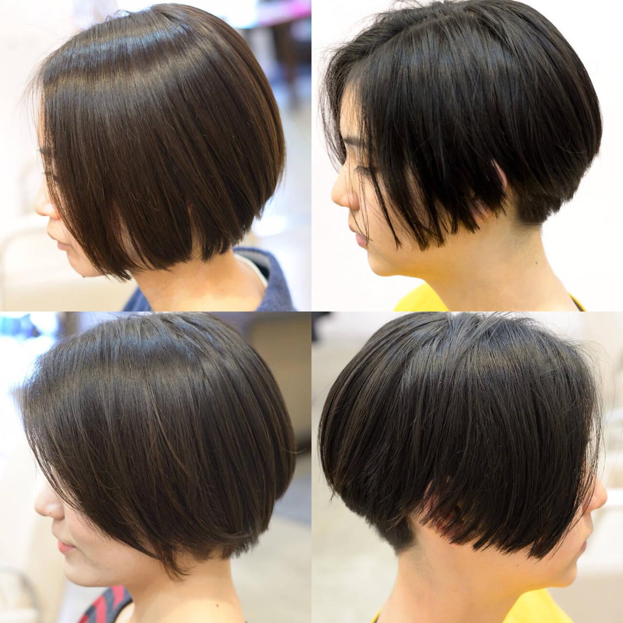 色気 前下がり ボブ ナチュラルヘアスタイルや髪型の写真・画像