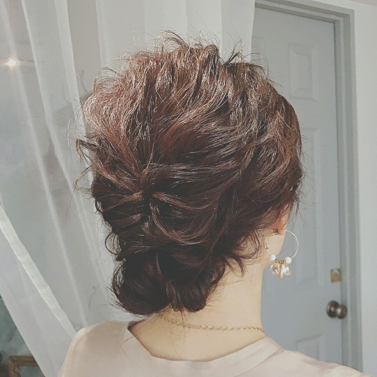 大人かわいい ミディアム パーティ ゆるふわヘアスタイルや髪型の写真・画像