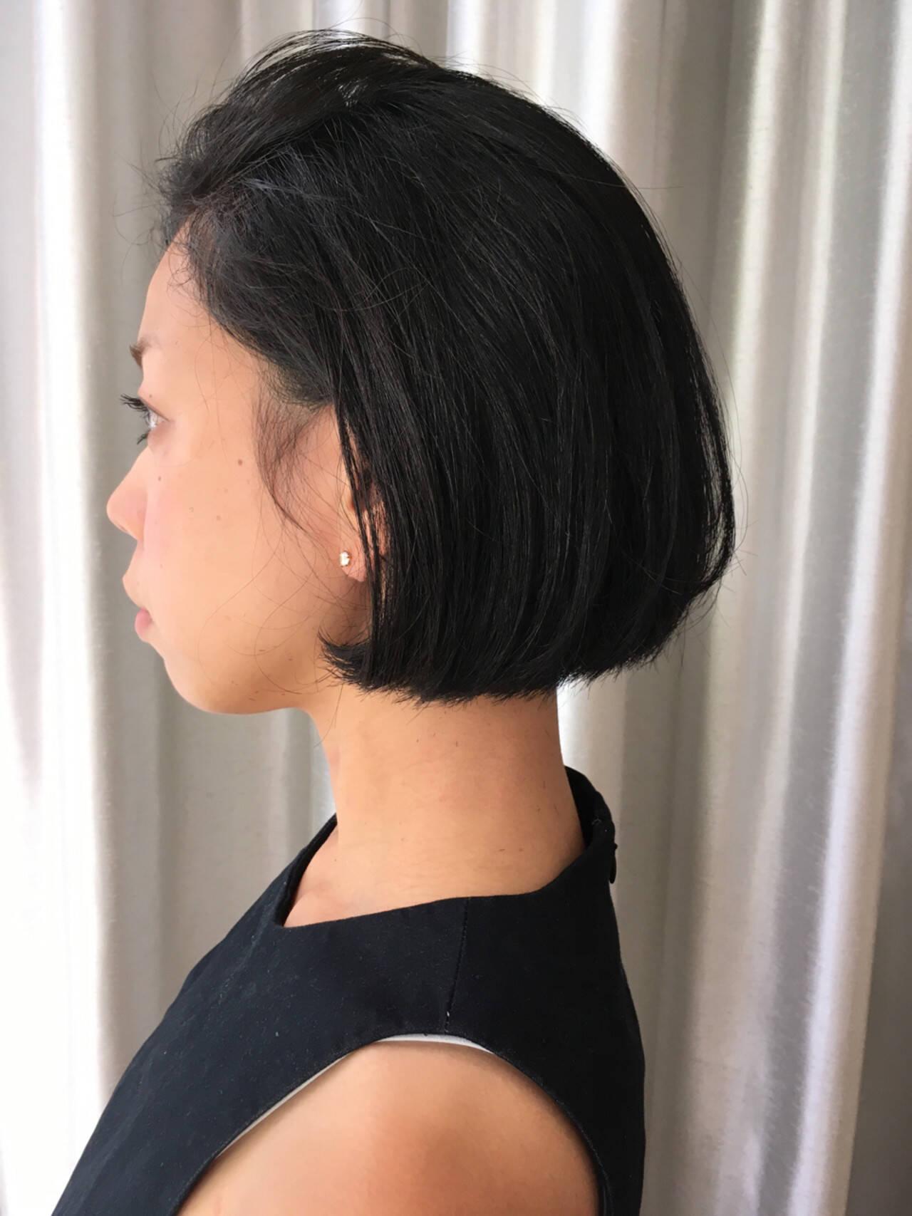 ボブ 外国人風 暗髪 黒髪ヘアスタイルや髪型の写真・画像