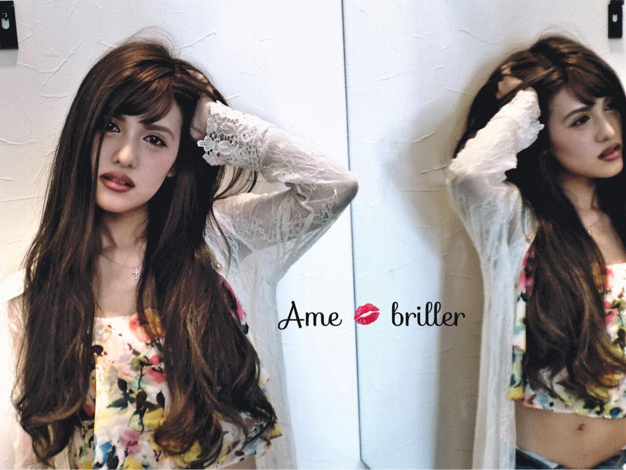 ロング アッシュ 外国人風 夏ヘアスタイルや髪型の写真・画像