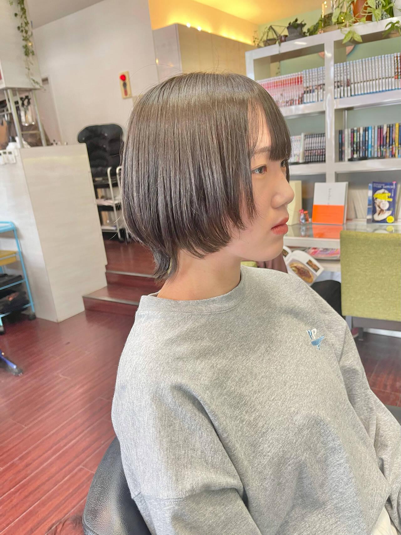 ウルフ女子 ウルフカット マッシュウルフ ショートヘアスタイルや髪型の写真・画像
