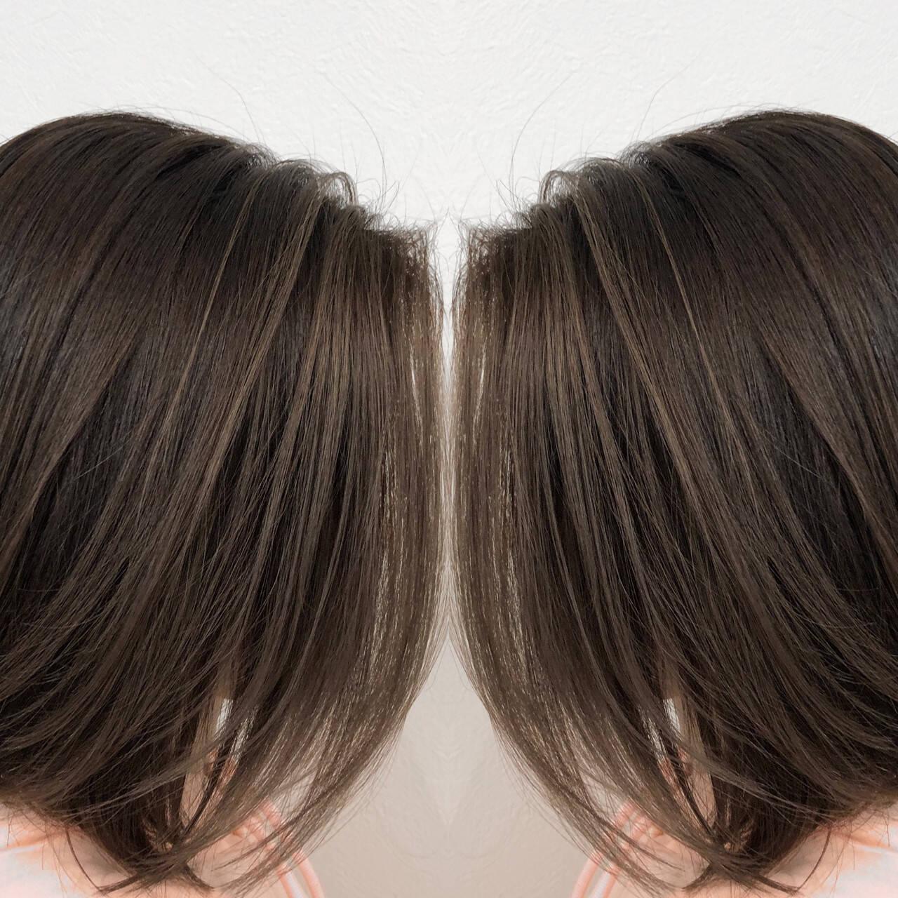 3Dハイライト 外国人風カラー ショートヘア バレイヤージュヘアスタイルや髪型の写真・画像