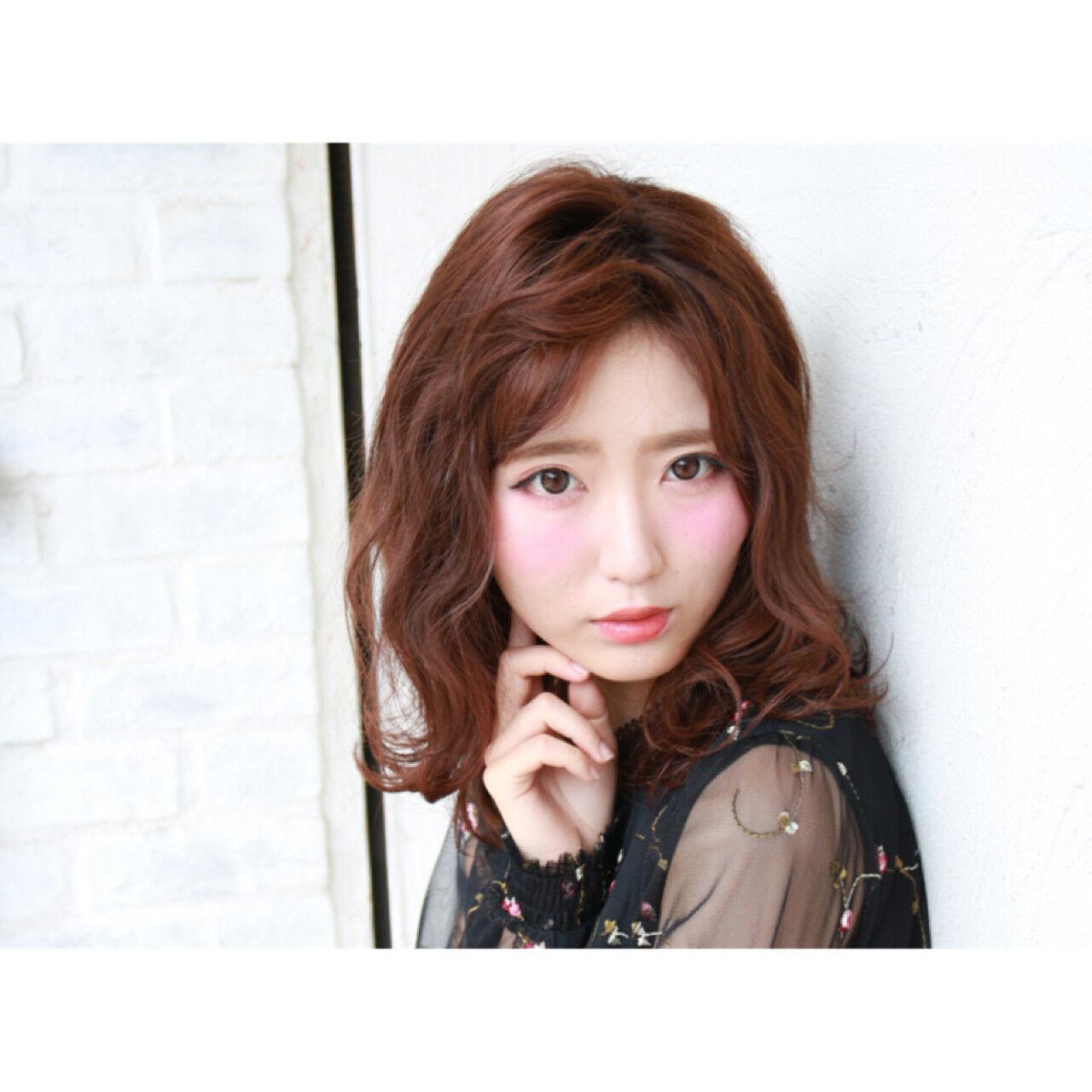 フェミニン かっこいい 暗髪 ボブヘアスタイルや髪型の写真・画像