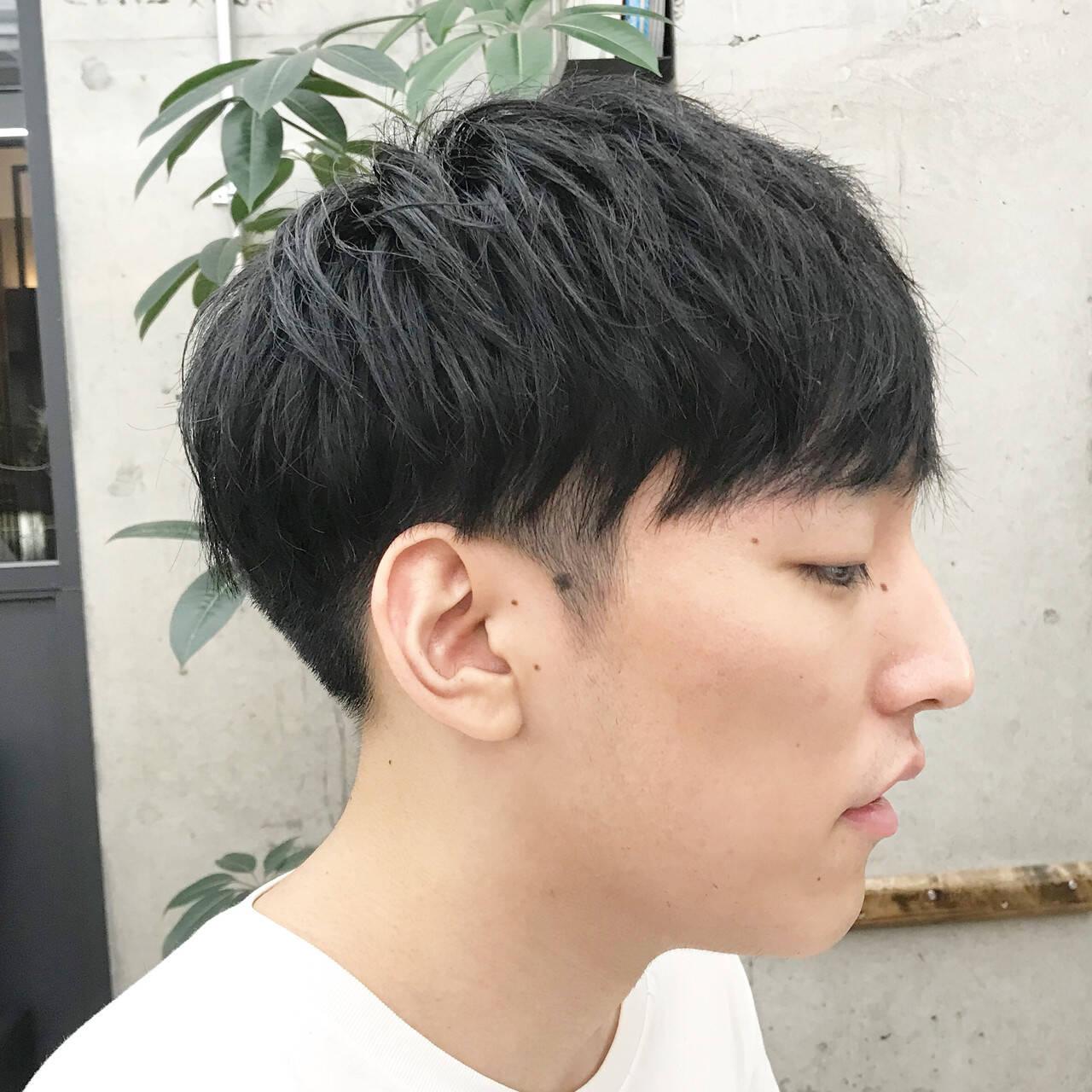 ショートヘア マッシュショート メンズカット 刈り上げヘアスタイルや髪型の写真・画像