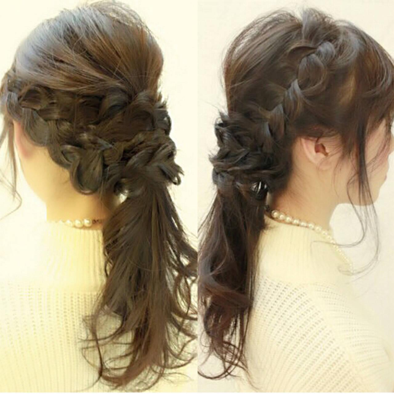 ヘアアレンジ 簡単ヘアアレンジ ロング 大人かわいいヘアスタイルや髪型の写真・画像